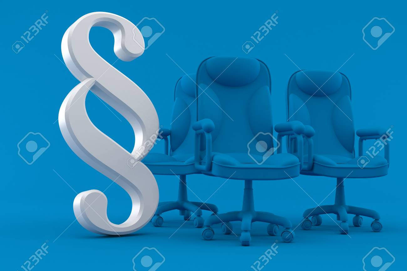 Business Background With Paragraph Symbol In Blue Color Stock Photo