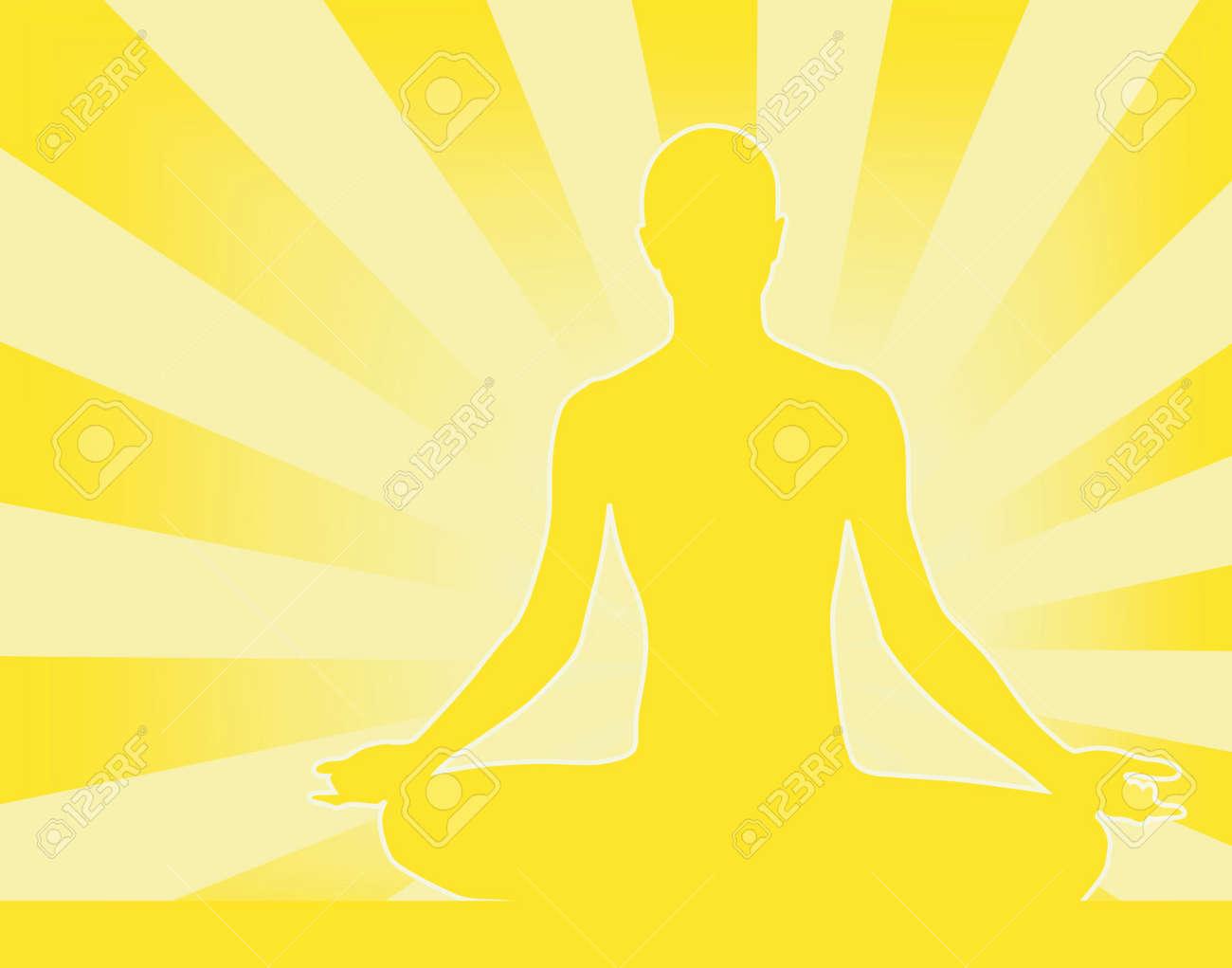 Abstract vector illustration of person meditating Buddha-esque Stock Vector - 1373041