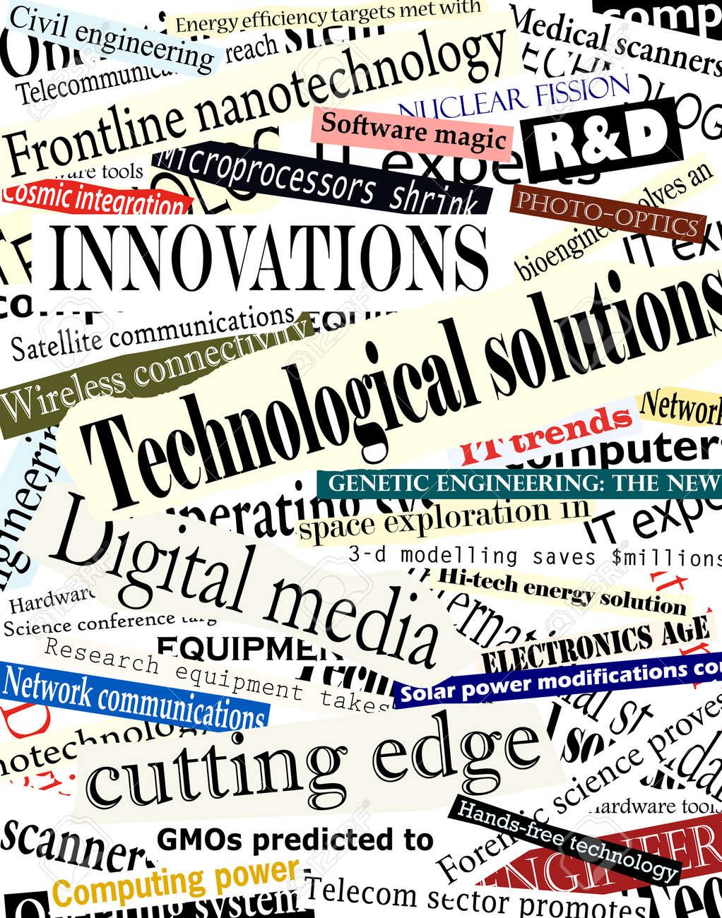 Background editable vector illustration of technological headlines Stock Vector - 2842412