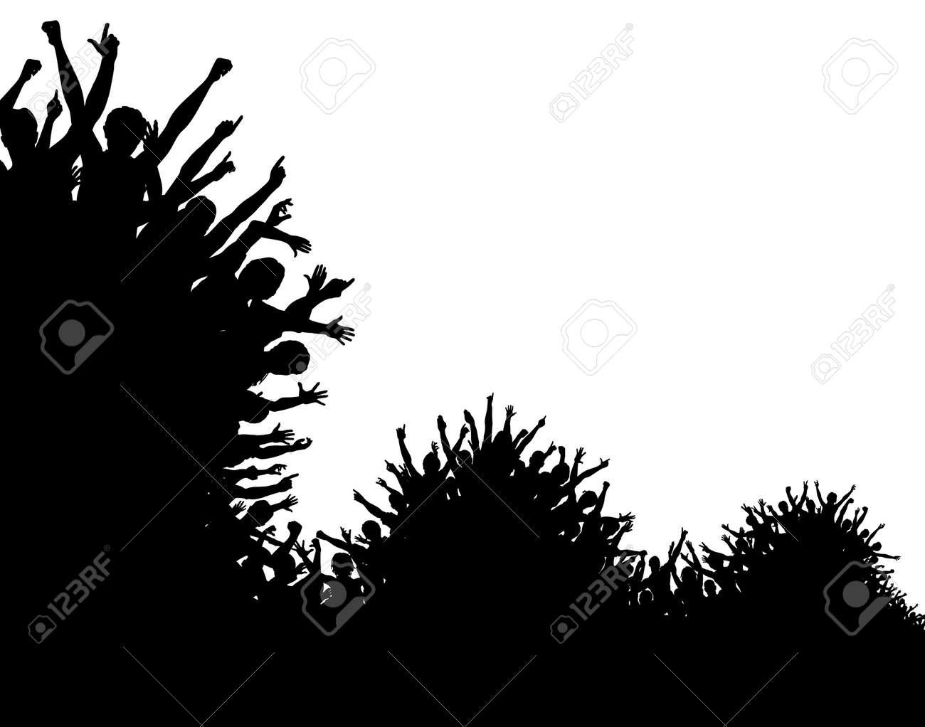 Editable vector design of a wavy crowd silhouette Stock Vector - 4538152