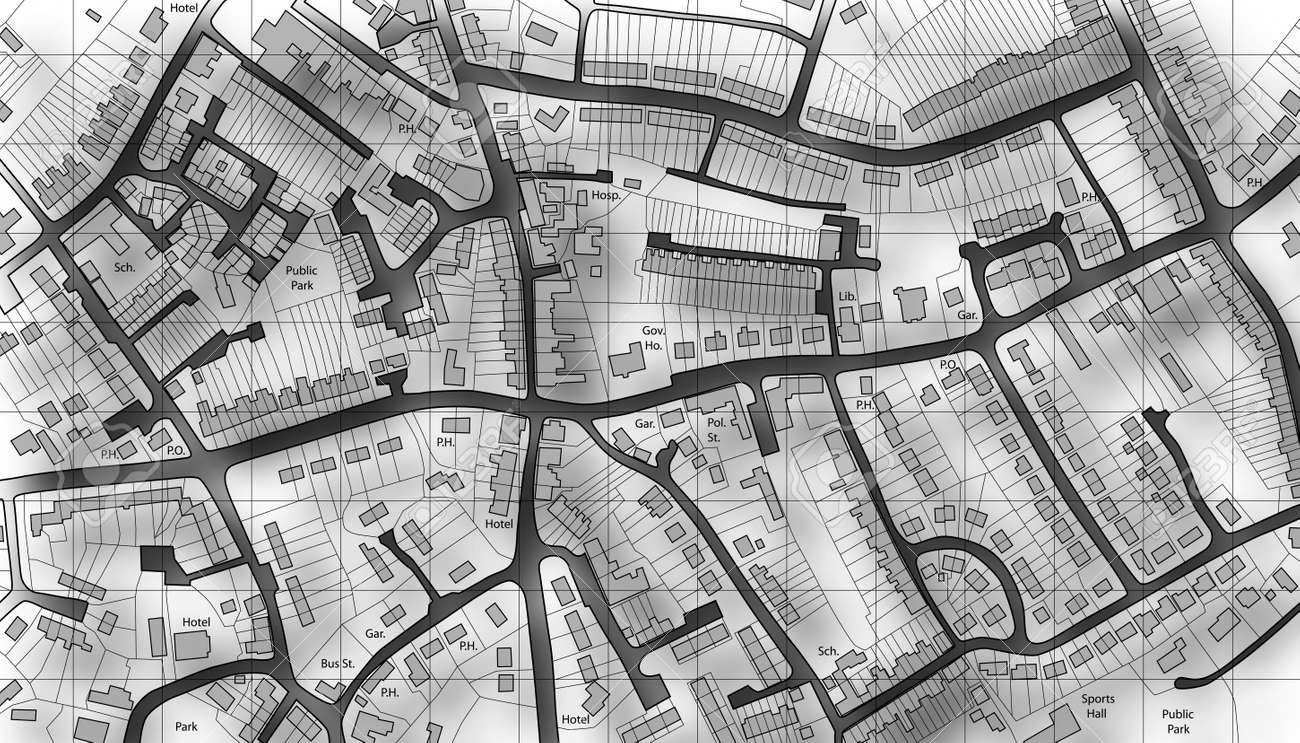 Illustrated map of housing in a generic town Stock Photo - 6997607