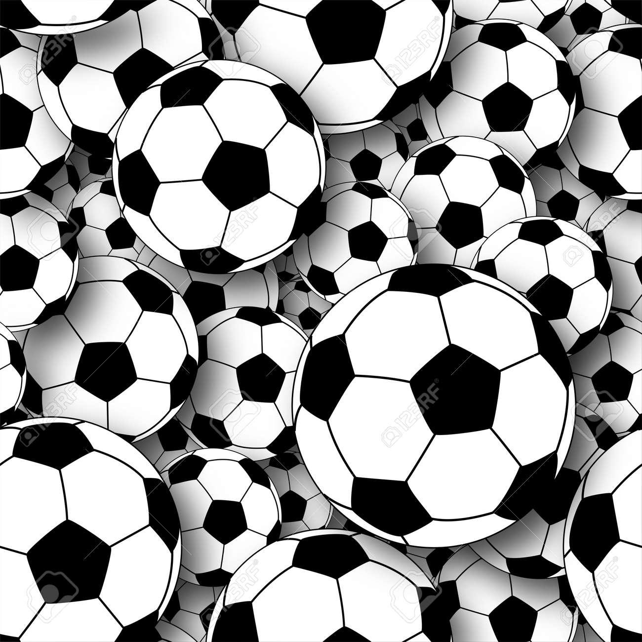 Ilustración De Una Masa De Pelotas De Fútbol Fotos Retratos Imágenes Y Fotografía De Archivo Libres De Derecho Image 6997556