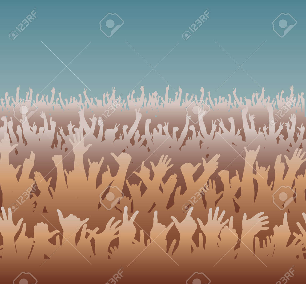 Editable illustration of a large crowd Stock Vector - 7551105