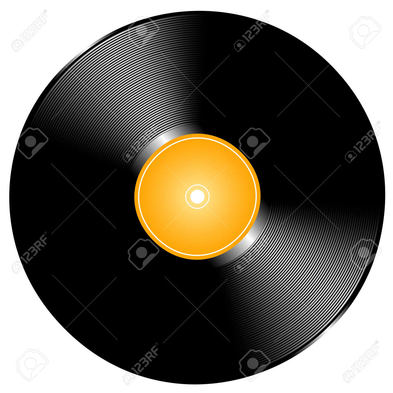 Editable vector illustration of a vinyl record made using gradient meshes Stock Vector - 9317911