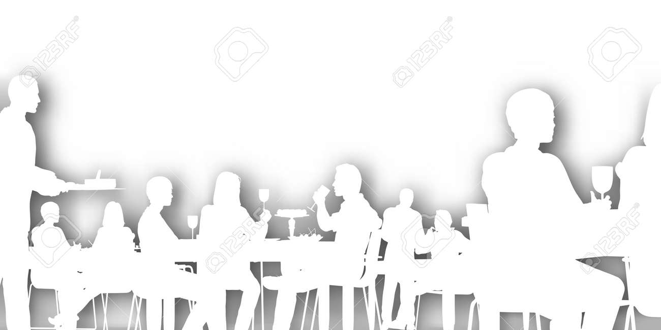 Restaurant Background With People editable cutout of people dining in a restaurant with background