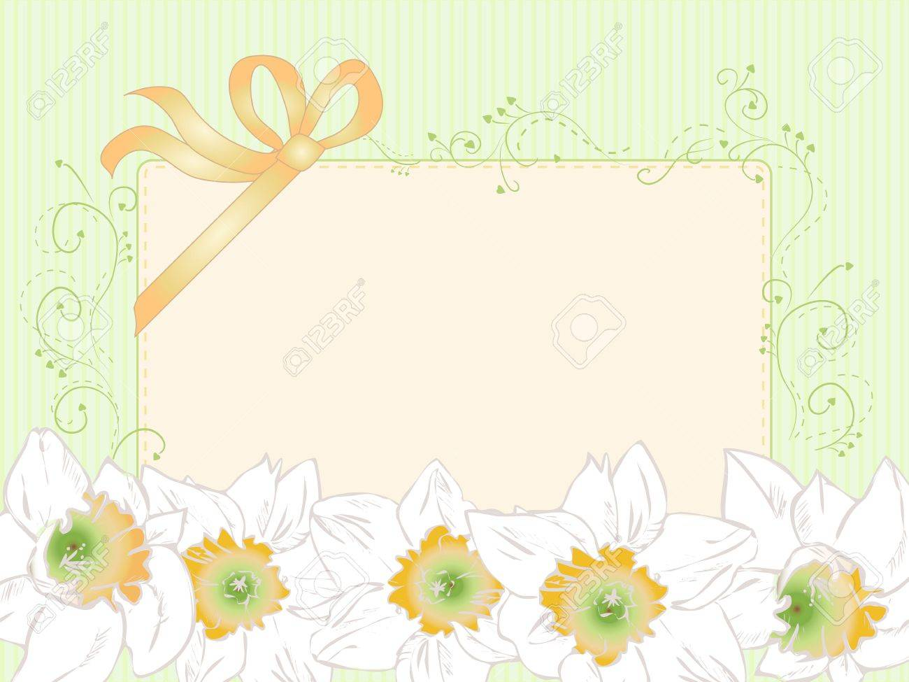 Hand drawn wedding greeting card, vintage, art deco style, vector eps 10 Stock Vector - 20367336