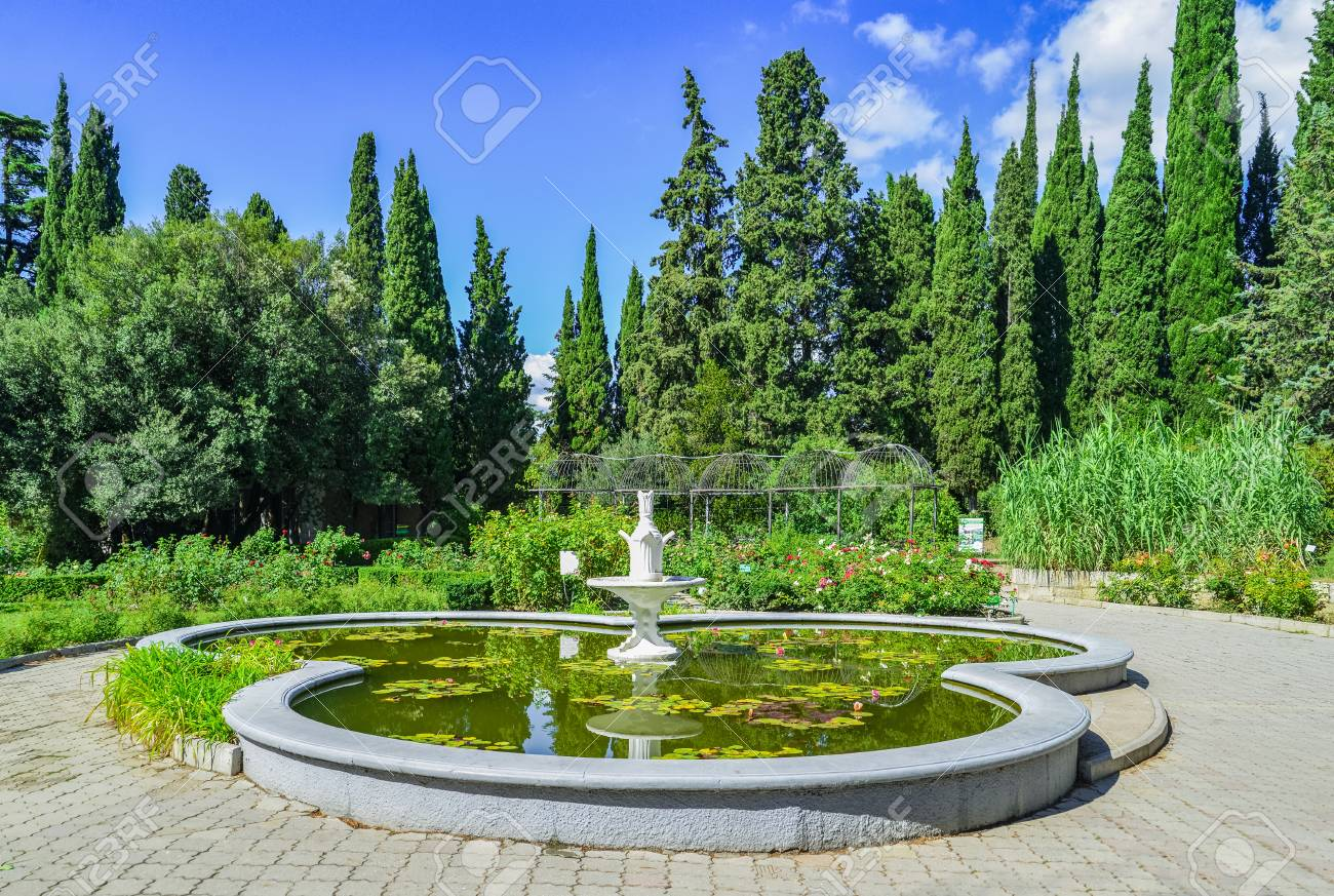 Green Park With Road Trees Alley Nice And Comfortable Great Stock Photo Picture And Royalty Free Image Image 97010344