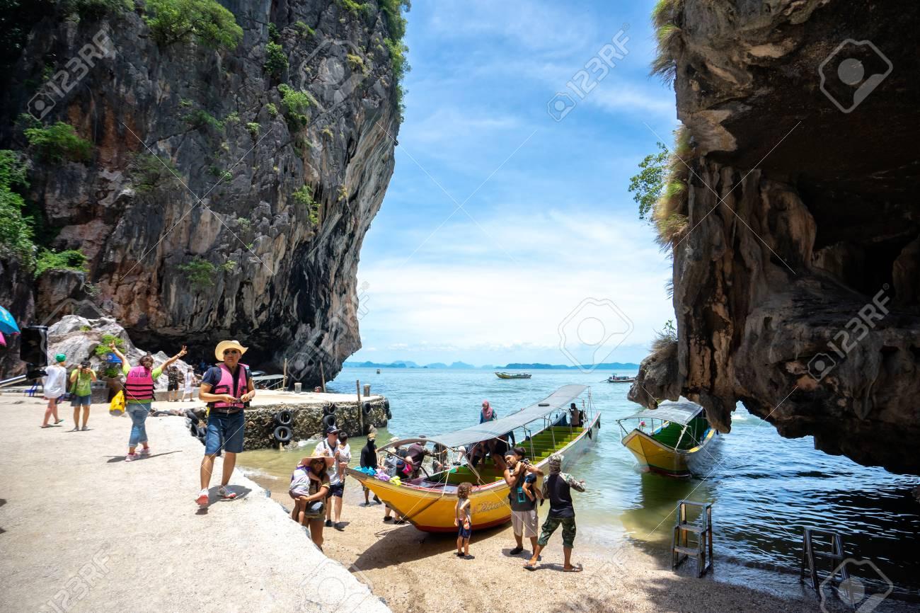 Phang Nga Thailand April 14 2018 Phang Nga Bay Kayaking