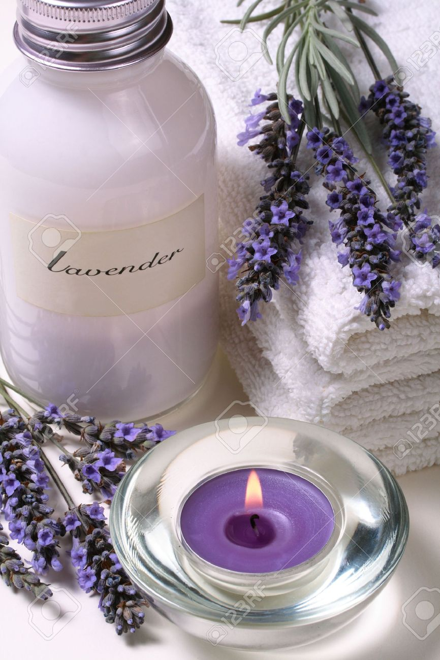 Lavender spa, some objects of relaxation and body treatment Stock Photo - 1986798