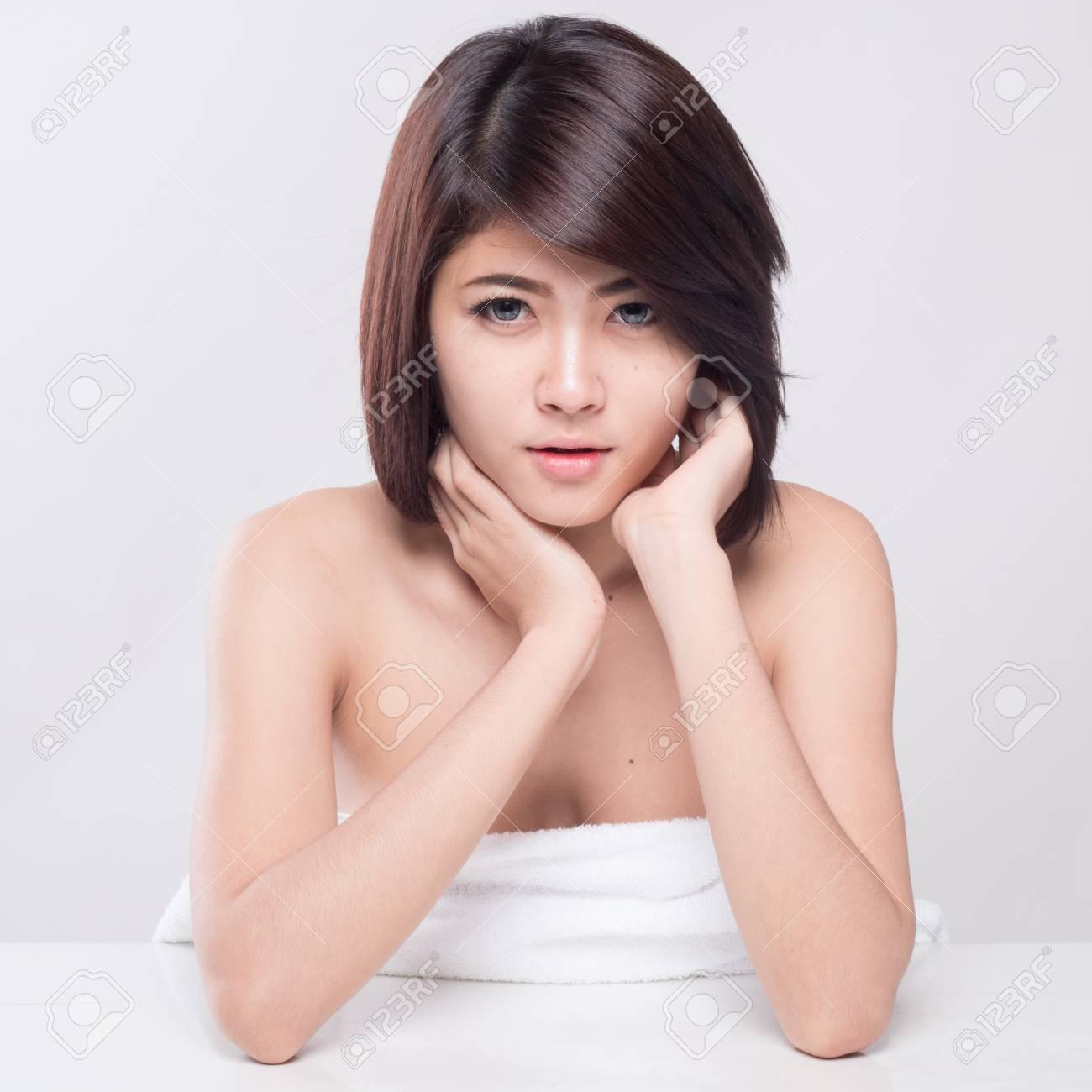 Asian young female No retouching- for beauty/photoshop retoucing