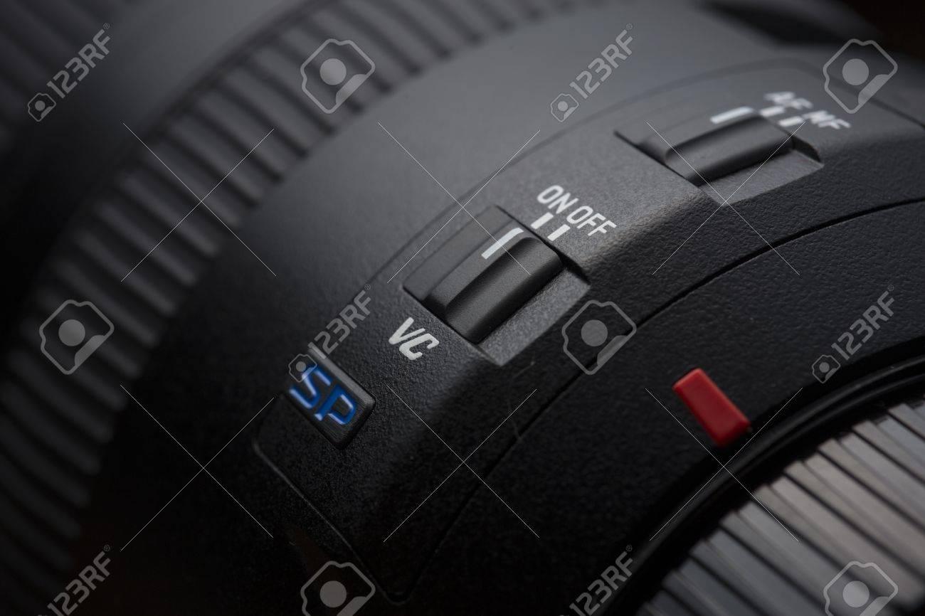 close up to a camera lens with manual auto focus switch stock photo rh 123rf com Up Close and Personal Photography Close Up Lens for Photography