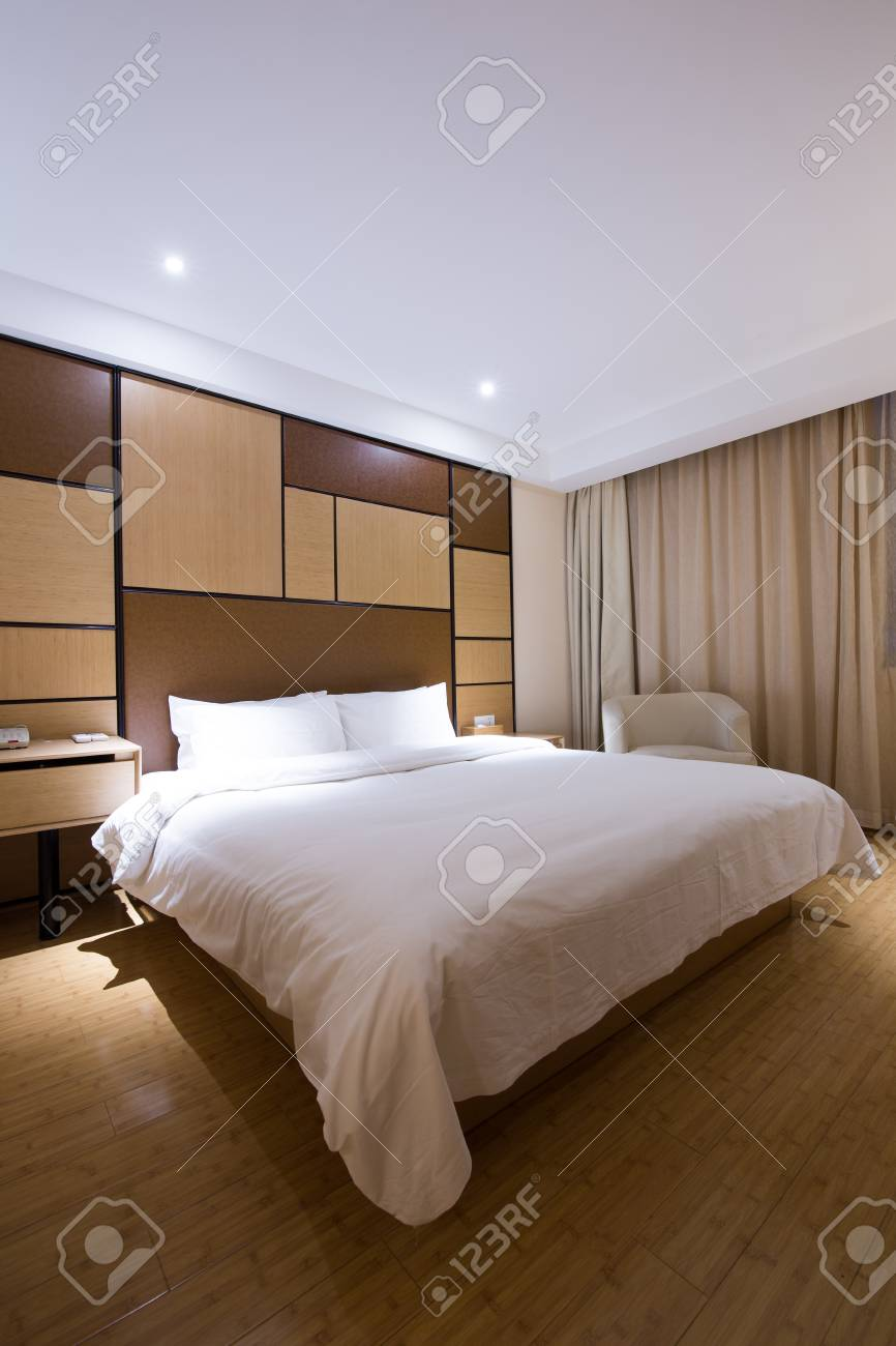 Luxury Modern Japanese Style Bedroom. Stock Photo, Picture And ...