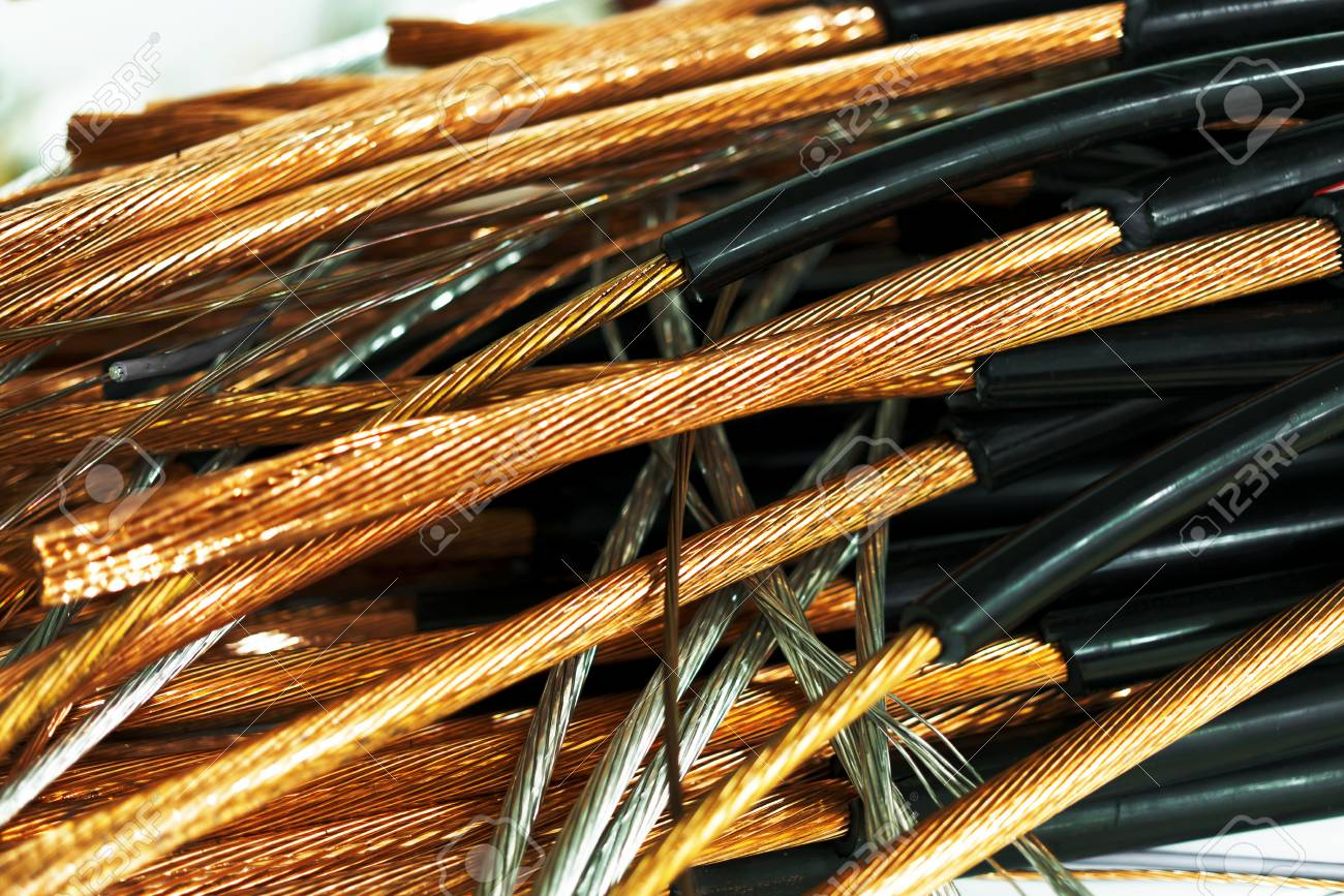 Copper Wire Isolated On White Stock Photo, Picture And Royalty Free ...