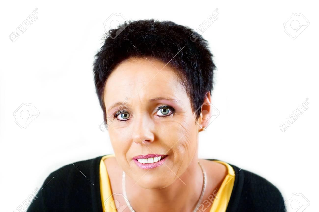 Mature woman portrait with black shirt Stock Photo - 4810416