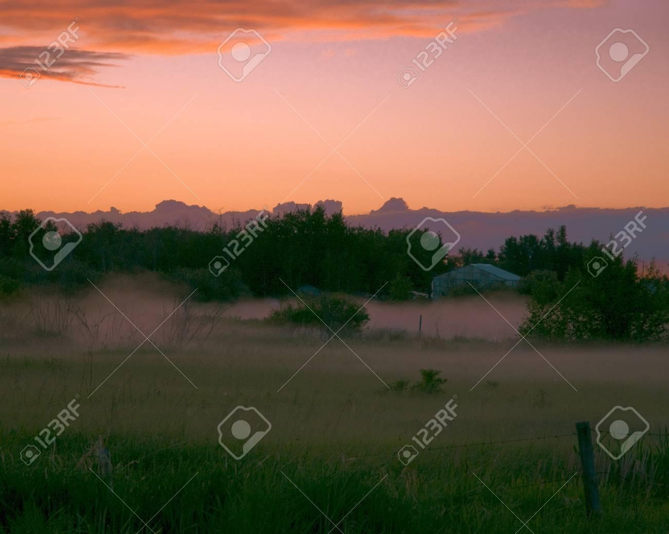 late evening fog Stock Photo - 8278823