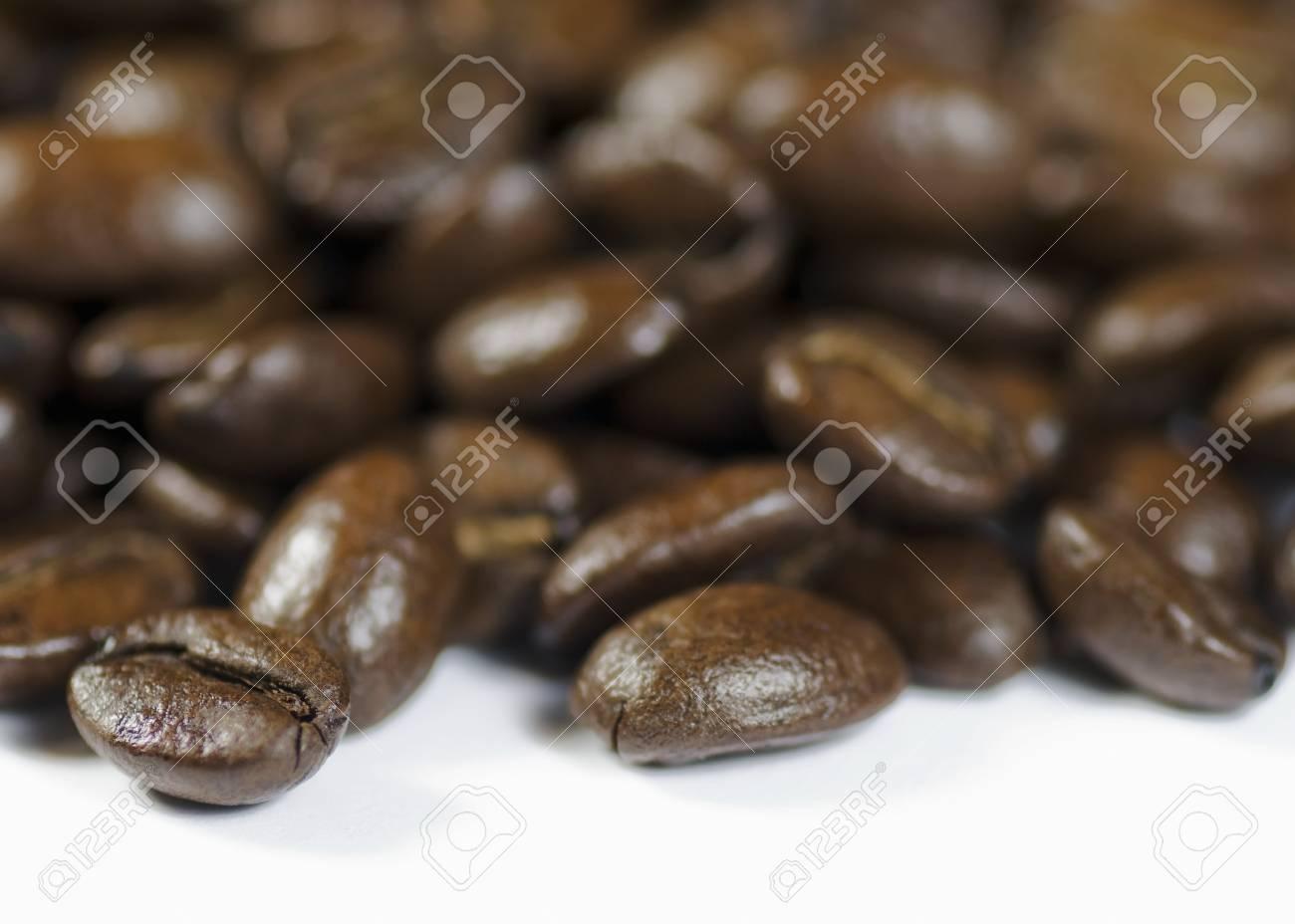Coffee beans on white background Stock Photo - 8278846