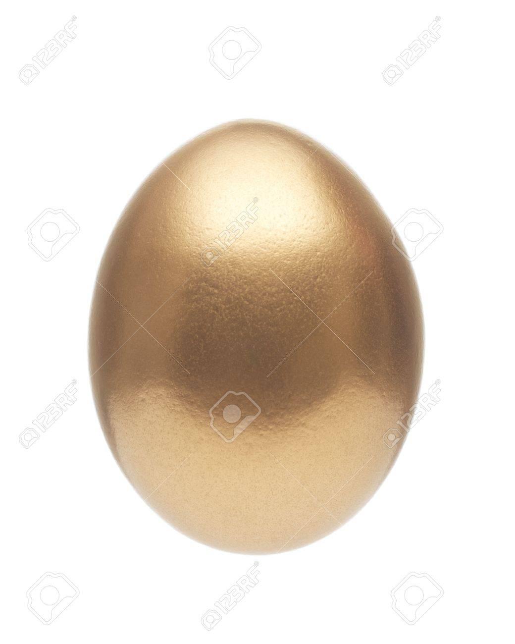 Golden Egg Isolated on White Background Stock Photo - 20910814