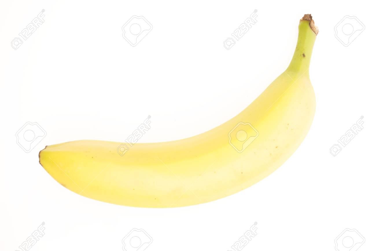 Ripe Yellow Banana on White Background Stock Photo - 21266488
