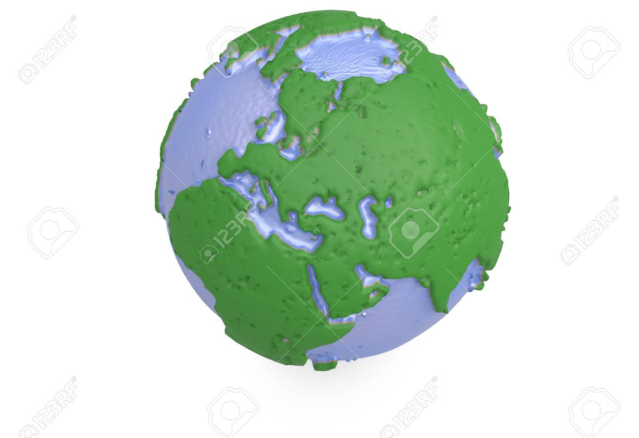 Earth world map polygonal 3d globe with 3d render stock photo earth world map polygonal 3d globe with 3d render stock photo 68612636 gumiabroncs Gallery