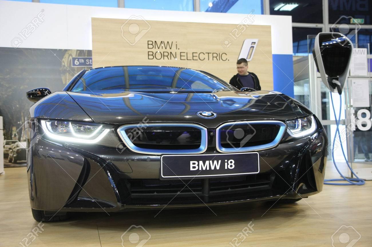BELGRADESERBIA MARCH 292017 BMW I8 At 53th International Belgrade Car