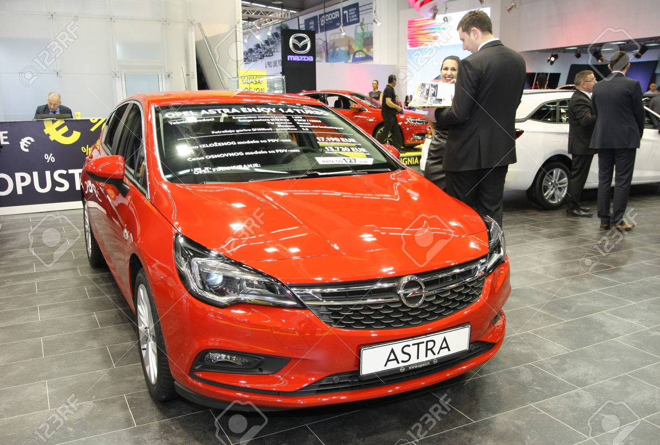 Belgrade Serbia March 29 2017 Opel Astra Enjoy 1 4 Turbo At Stock Photo Picture And Royalty Free Image Image 77284580