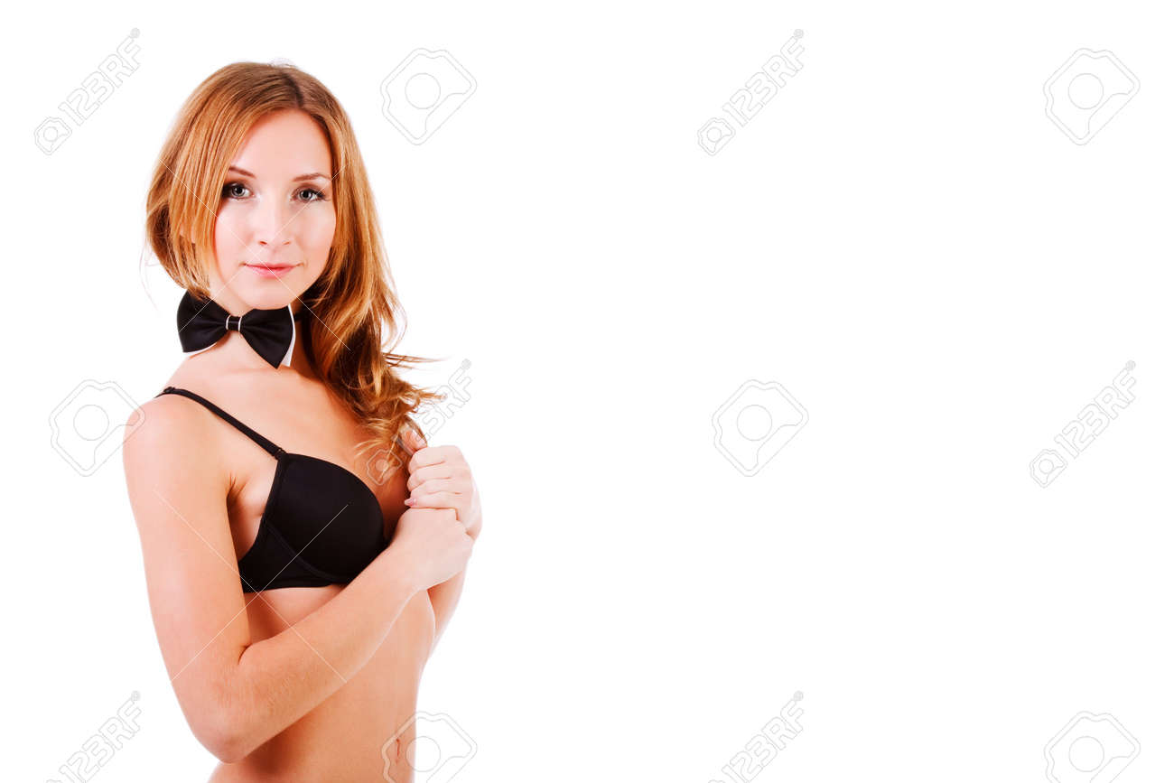 Picture of a sweet alluring girl in black lingerie Stock Photo - 6369622