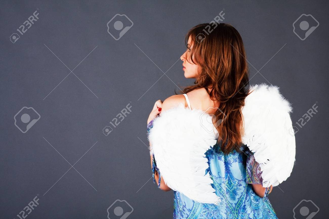 Picture of a beautiful attractive young girl in dress Stock Photo - 7377426