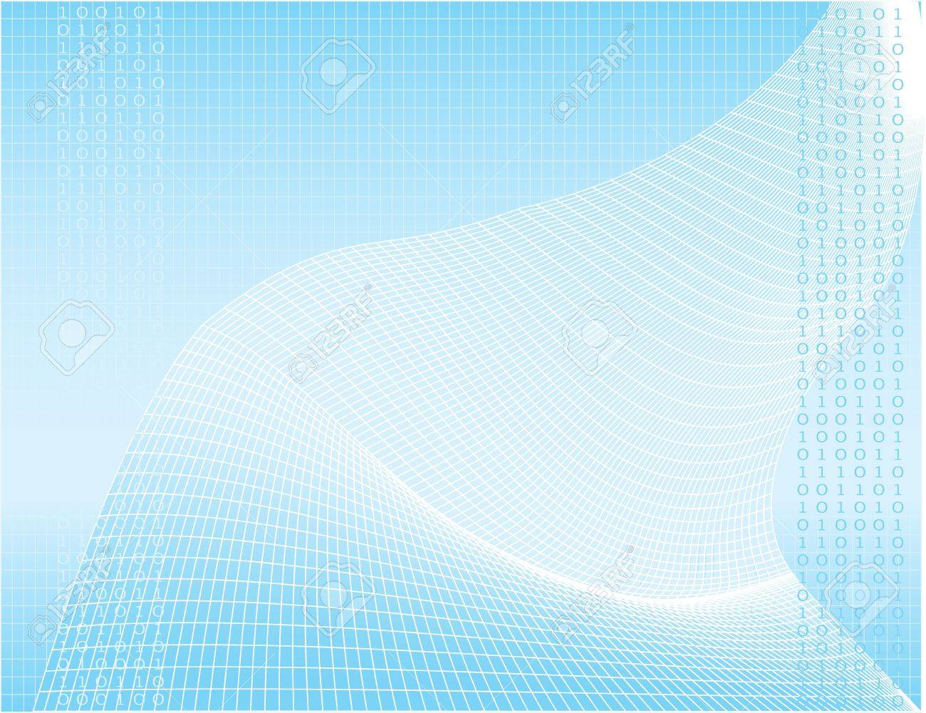 illustration of a digital wave pattern that is great for a background Stock Photo - 2145774