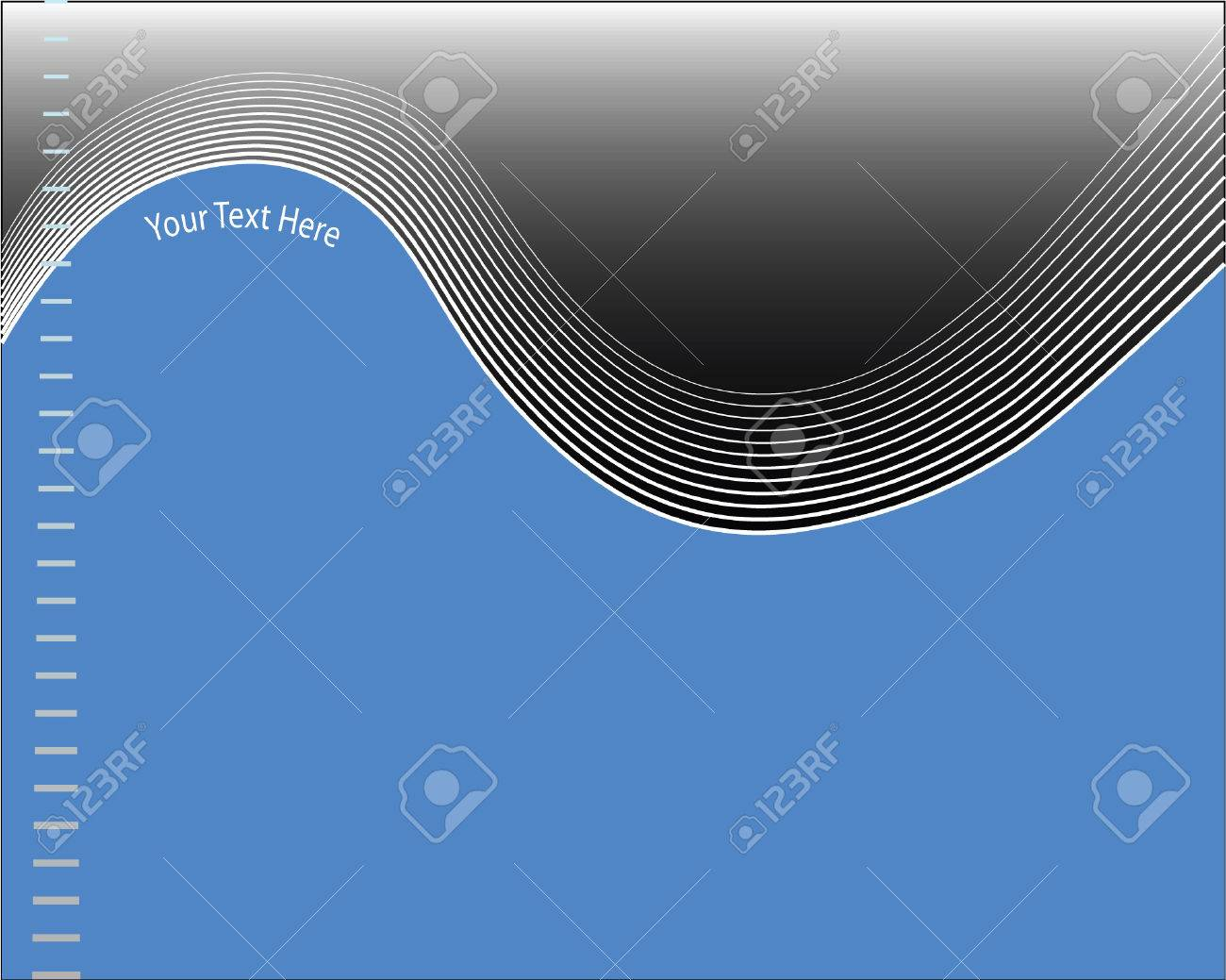 a vector abstract template background featuring a wavy blend pattern Stock Vector - 3424741