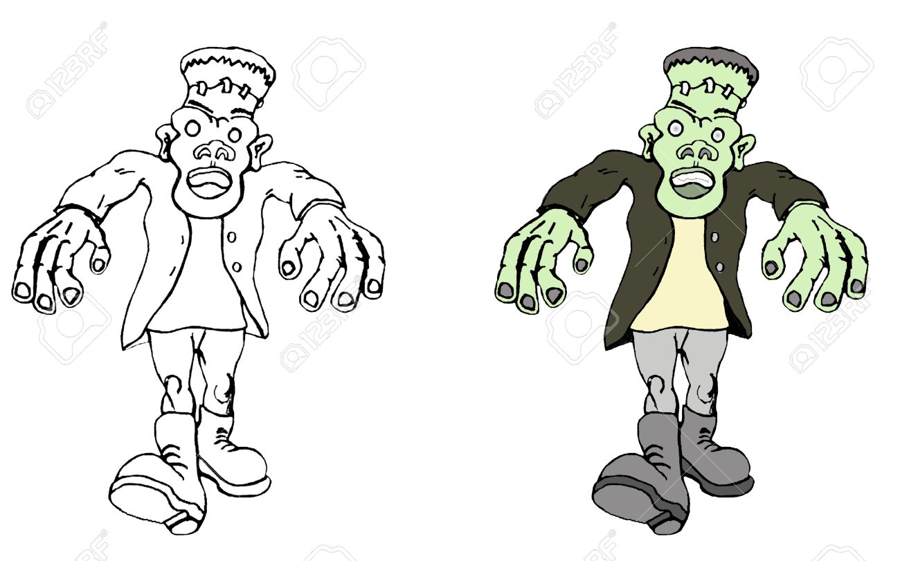 A Black White And Color Vector Cartoon Illustration Of The Royalty Free Cliparts Vectors And Stock Illustration Image 5562948