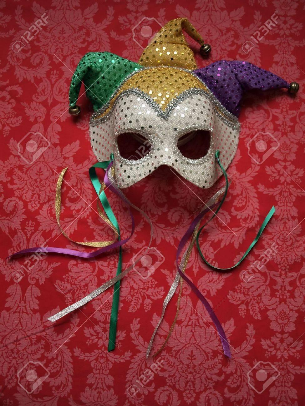 carnival mask on decorative fabric Stock Photo - 6242211