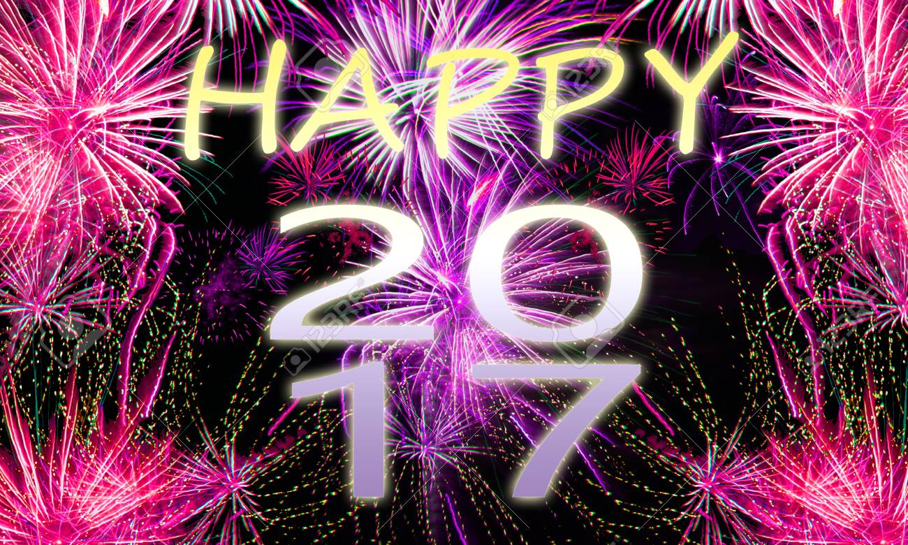 Fireworks Background For New Years Eve In 2017 And Other Celebrations Stock Photo