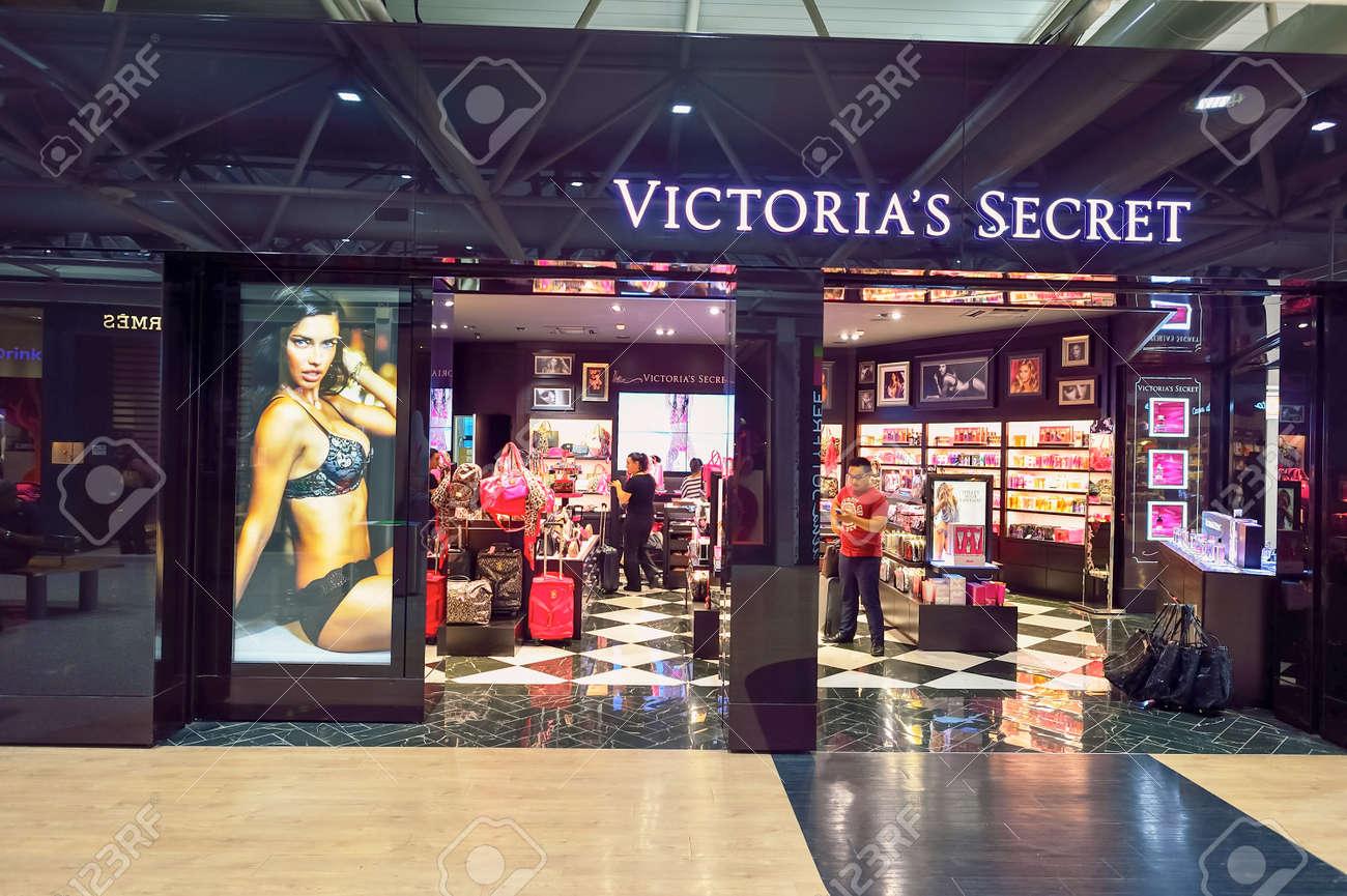 7f982ce90 ROME, ITALY - AUGUST 04, 2015:Victoria's Secret store interior. Victoria's  Secret
