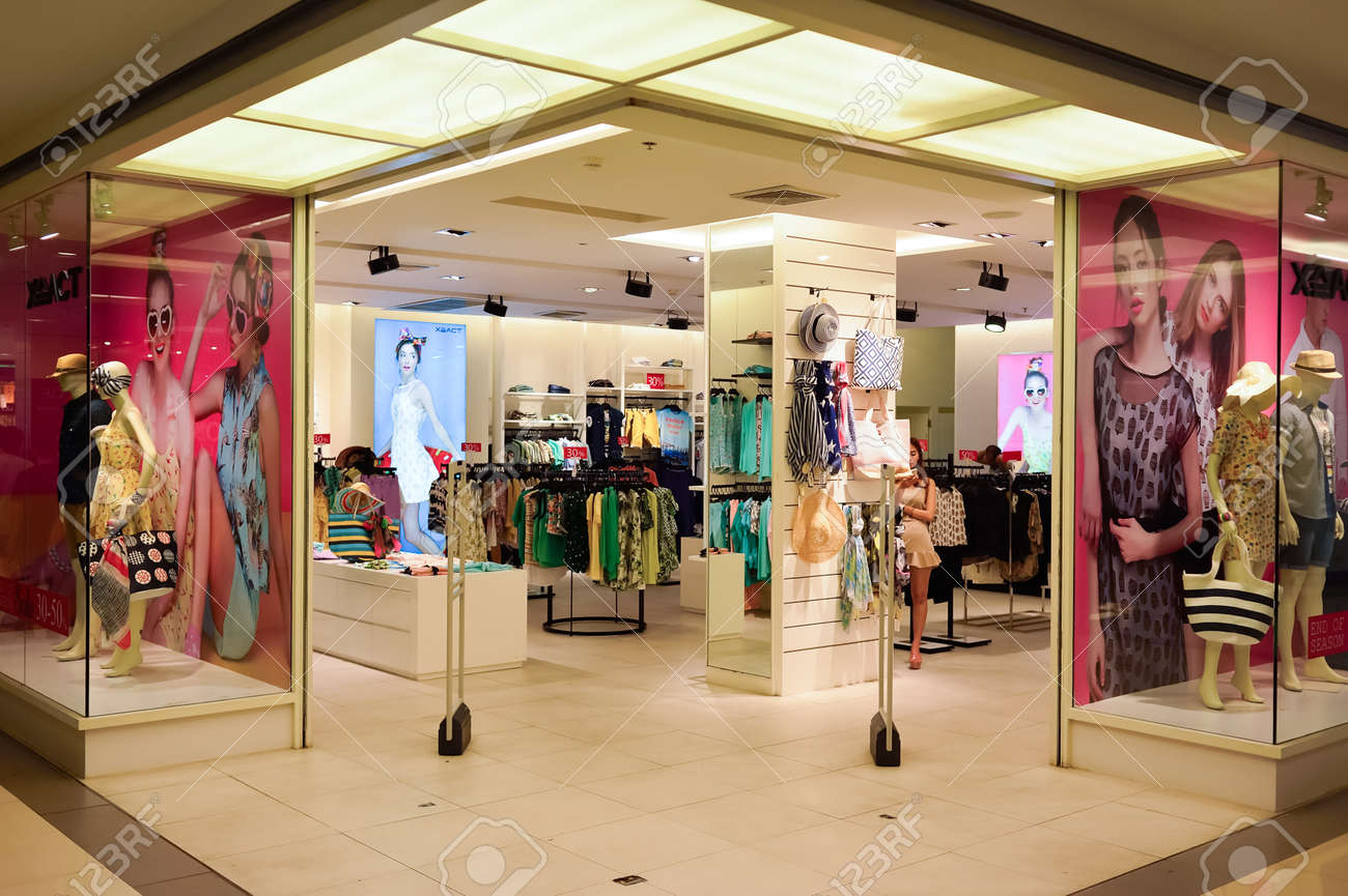 BANGKOK, THAILAND - JUNE 20, 2015: shopping center interior. Shopping malls and department stores such as Siam Paragon, Central World Plaza, Emperium, Gaysorn and Central Chidlom become shopping Mecca for shopaholics - 51051899