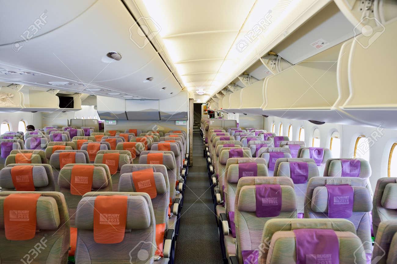 BANGKOK, THAÏLANDE - 9 Septembre 2015: Emirates Airbus Intérieur De ...