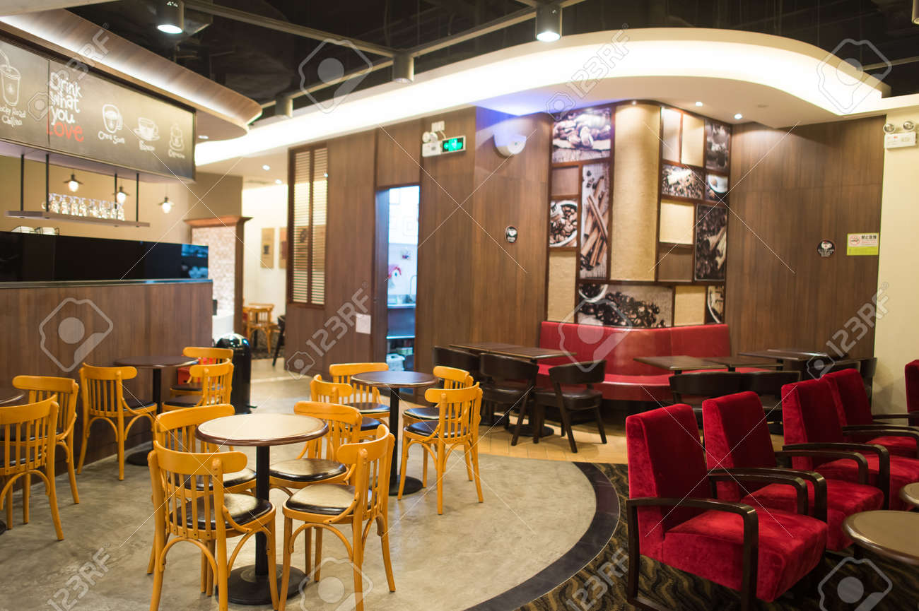 Shenzhen China Jan 22 Pacific Coffee Interior On January 22 Stock Photo Picture And Royalty Free Image Image 55555542