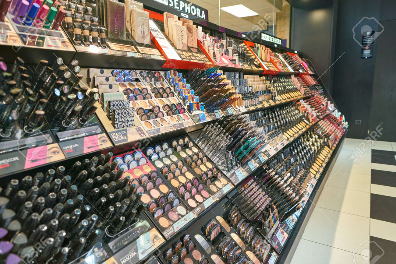 MILAN, ITALY - CIRCA NOVEMBER, 2017: inside Sephora store in
