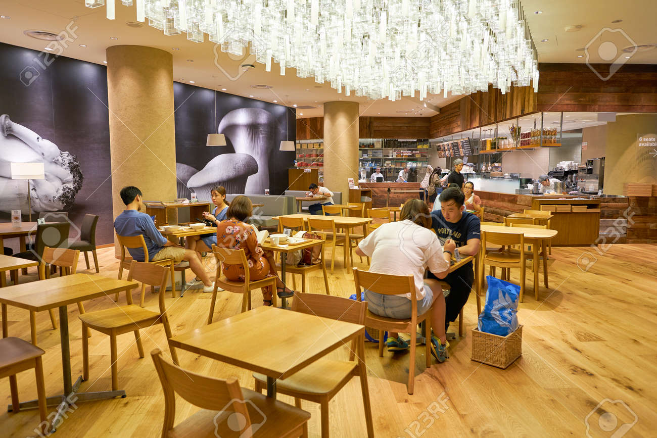 Singapore Circa April 2019 Interior Shot Of Cafe Meal Muji Stock Photo Picture And Royalty Free Image Image 134500663