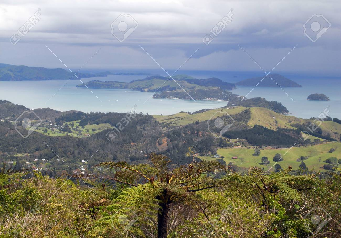 Bay of islands from above - New Zealand Stock Photo - 12841158