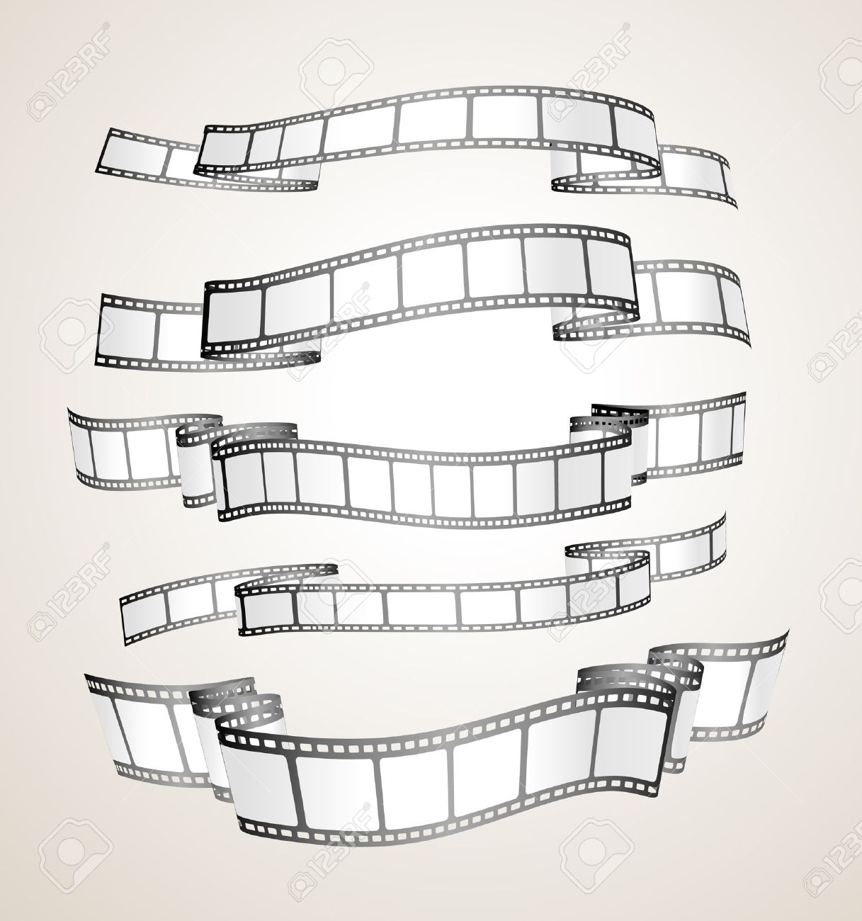 film strip banners - black and white- Stock Vector - 7373672