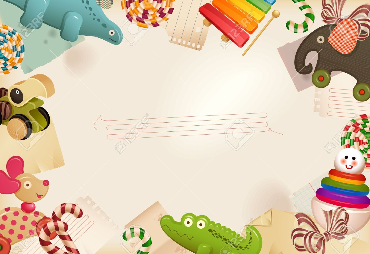Toys Candy Childhood Memories Background Royalty Free Cliparts