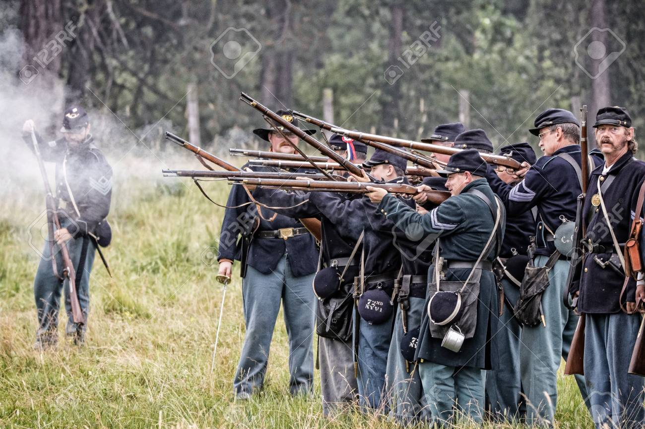 Union soldiers open fire at a Civil War reenactment in Graeagle,