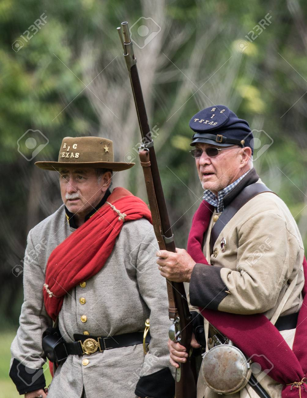 Civil War Union scout at the Dog Island reenactment in Red Bluff,