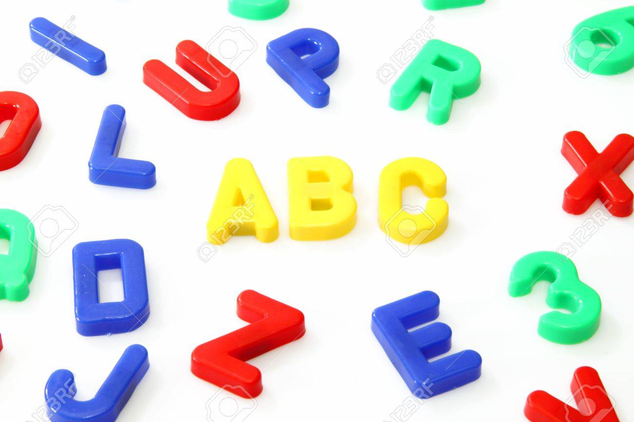 plastic magnetic letters and numbers stock photo 5207783