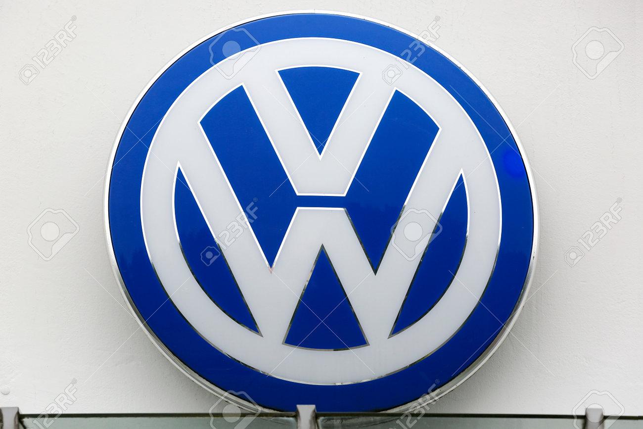 Huettenberg Germany July 2017 Volkswagen Vw Plate Logo On Stock