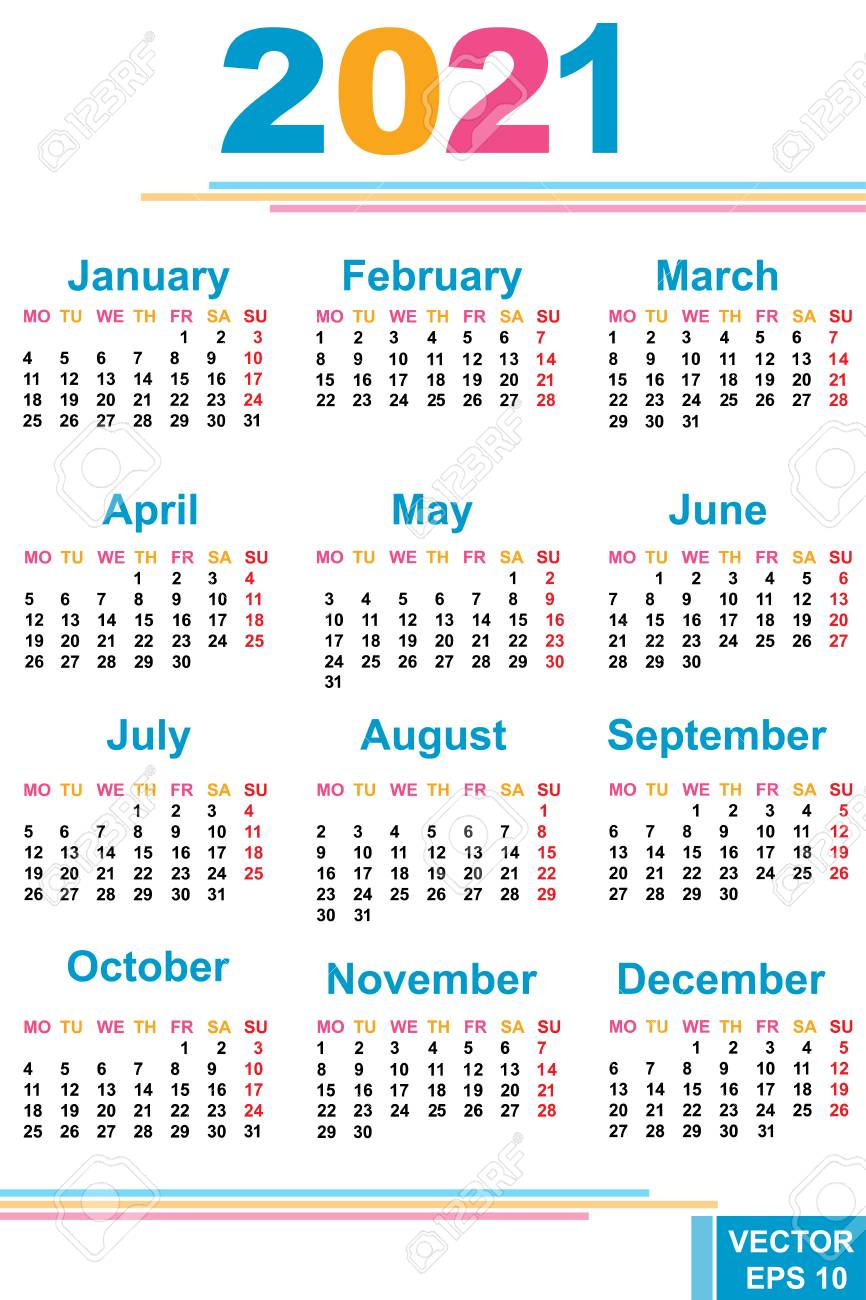 the calendar new year 2021 date for your design royalty free cliparts vectors and stock illustration image 70784933 the calendar new year 2021 date for your design