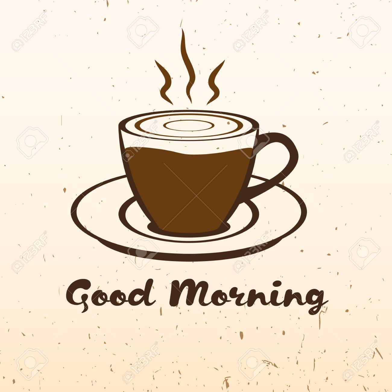 Good Morning Coffee Cup Hot Drinks Vivacity For Your Design