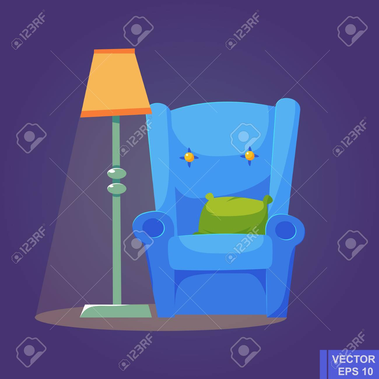 Surprising Cozy Home Stuff Isolated Object Background Cartoon Image Vector Interior Design Ideas Gresisoteloinfo
