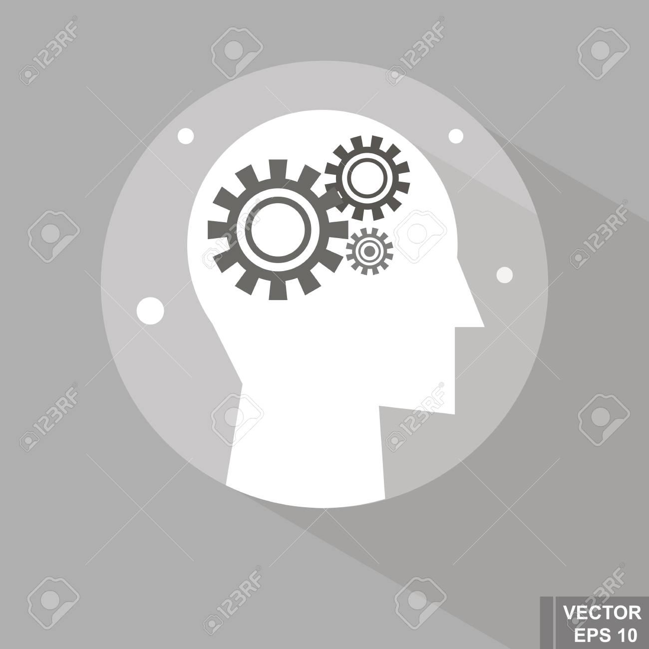 Menschliche Emotionen. Getriebe. Neue Idee. Für Ihr Design ...