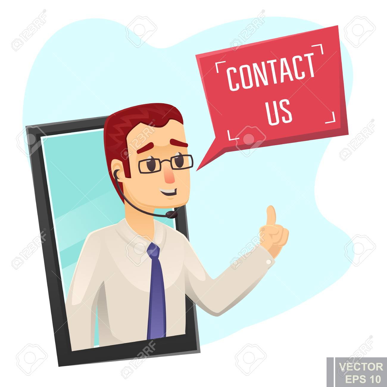 Contact Us Funny >> Call Center Help Design Young Funny Man Asking To Contact Us